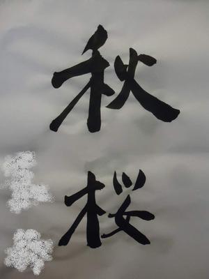 GHUブログ 8月写真「書道(秋桜)」 名前消し済.JPG